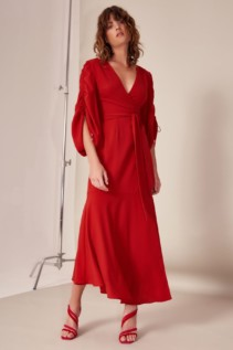 CMEO COLLECTIVE Favours Red Gown 2