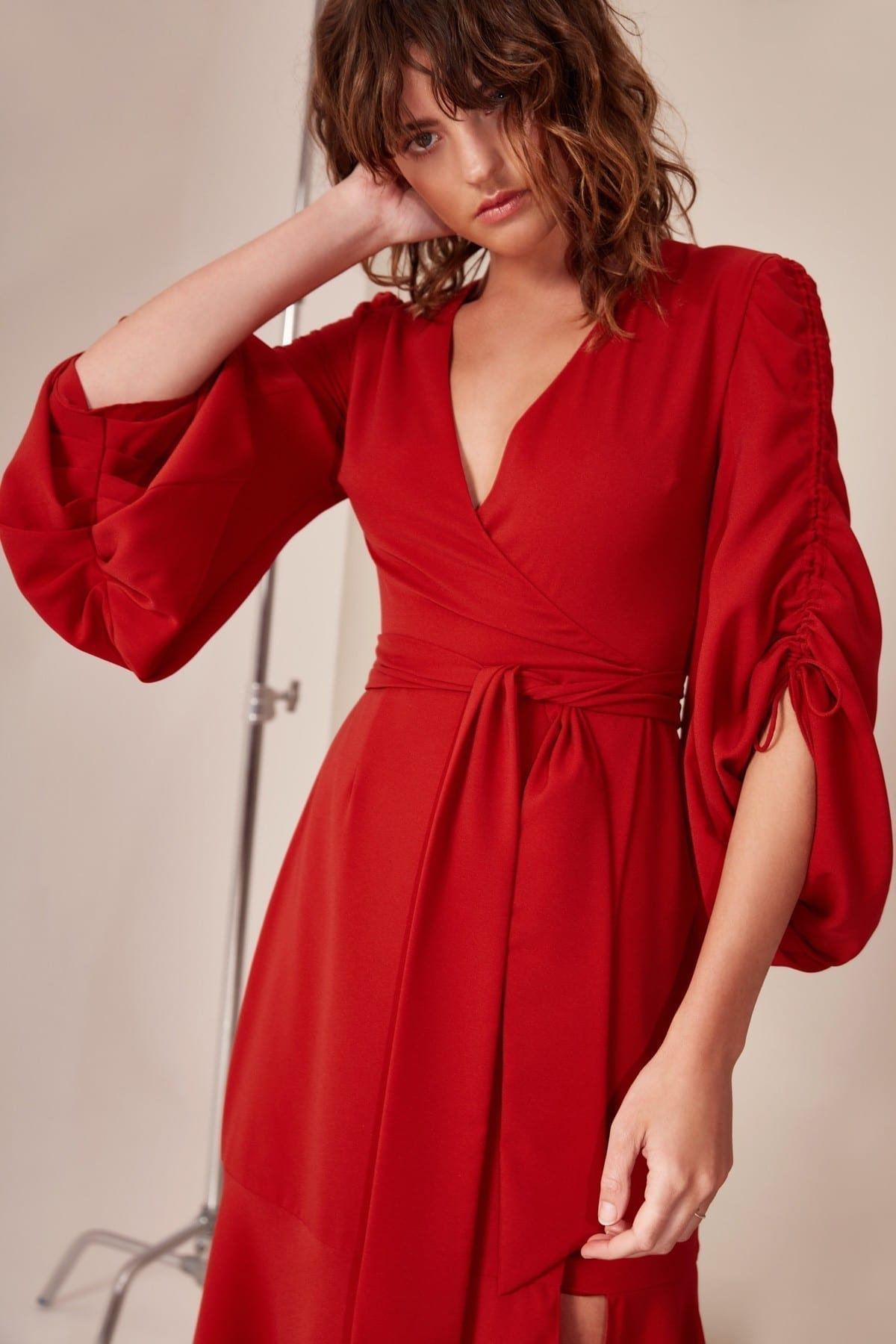CMEO COLLECTIVE Favours Red Gown 3