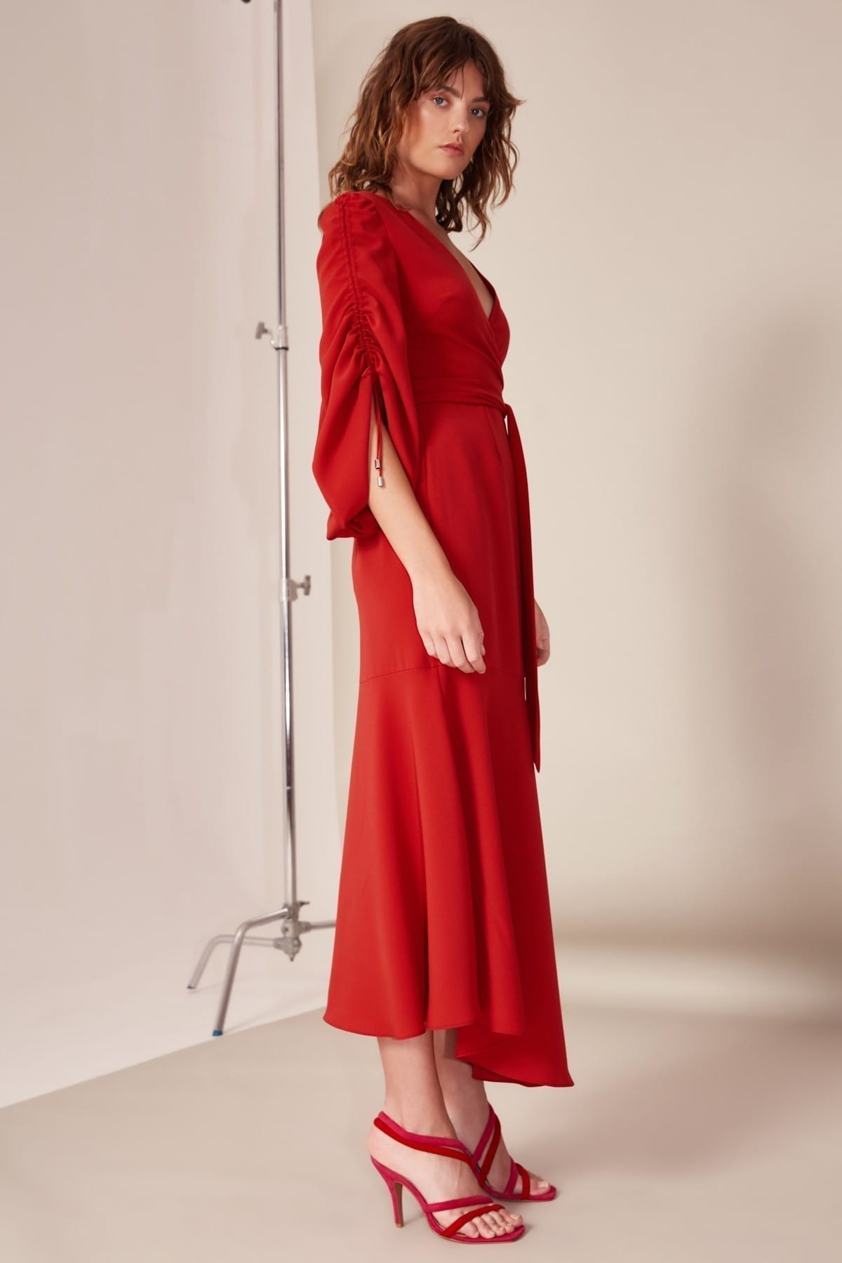 CMEO COLLECTIVE Favours Red Gown 4
