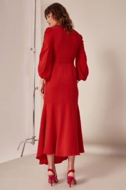 CMEO COLLECTIVE Favours Red Gown 5