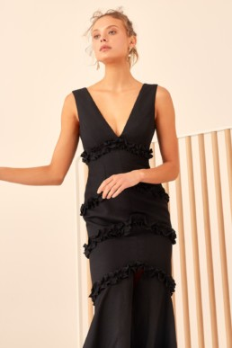 CMEO COLLECTIVE Thousand Times Black Gown 2