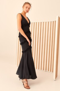 CMEO COLLECTIVE Thousand Times Black Gown 5