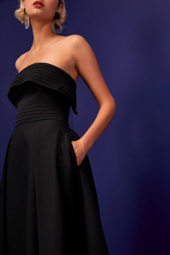 CMEO COLLECTIVE Visceral Black Gown 3