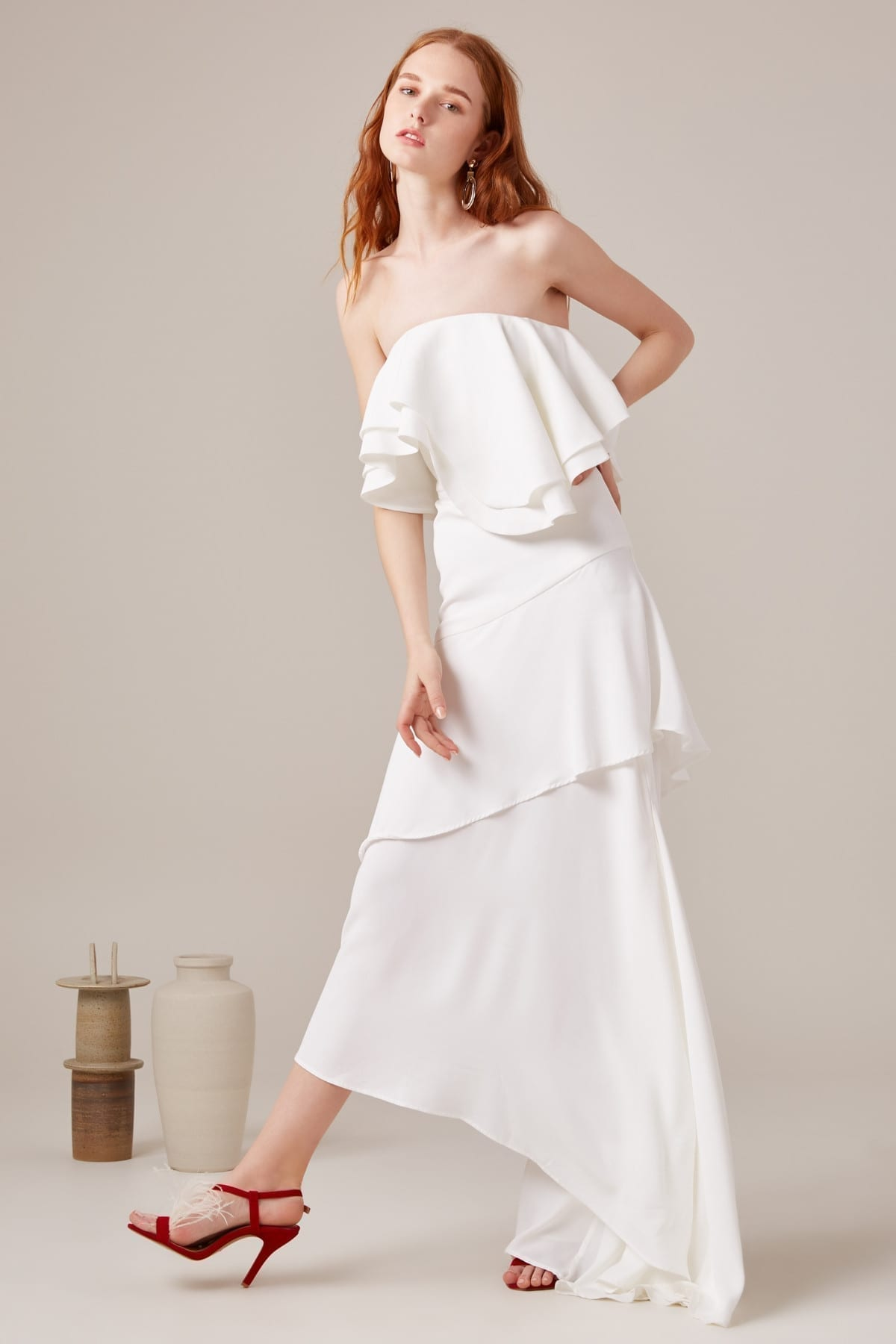 CMEO COLLECTIVE With You Ivory Gown