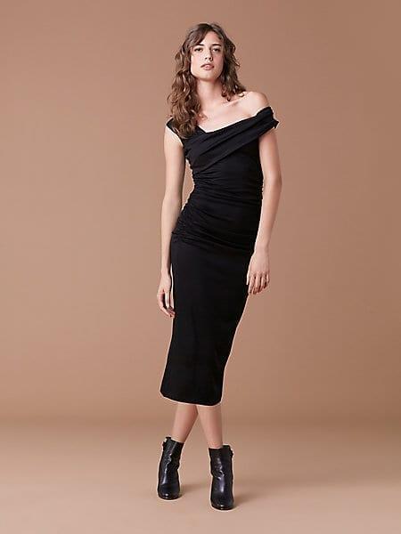 DIANE VON FURSTENBERG New Bently Black Dress