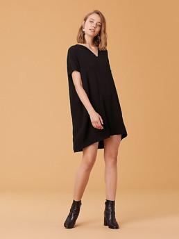 DIANE VON FURSTENBERG The DVF Kora Black Dress