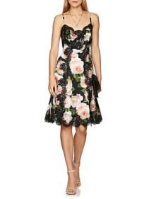 DOLCE-&-GABBANA-Lace-Trimmed-Rose-Print-Silk-Blend-Slip-Black-Floral-Dress