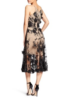 DRESS THE POPULATION Audrey Embroidered Fit & Flare Black Dress 3