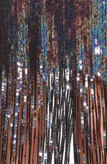 DRESS THE POPULATION Frankie Plunge Midi Multi Dress 4