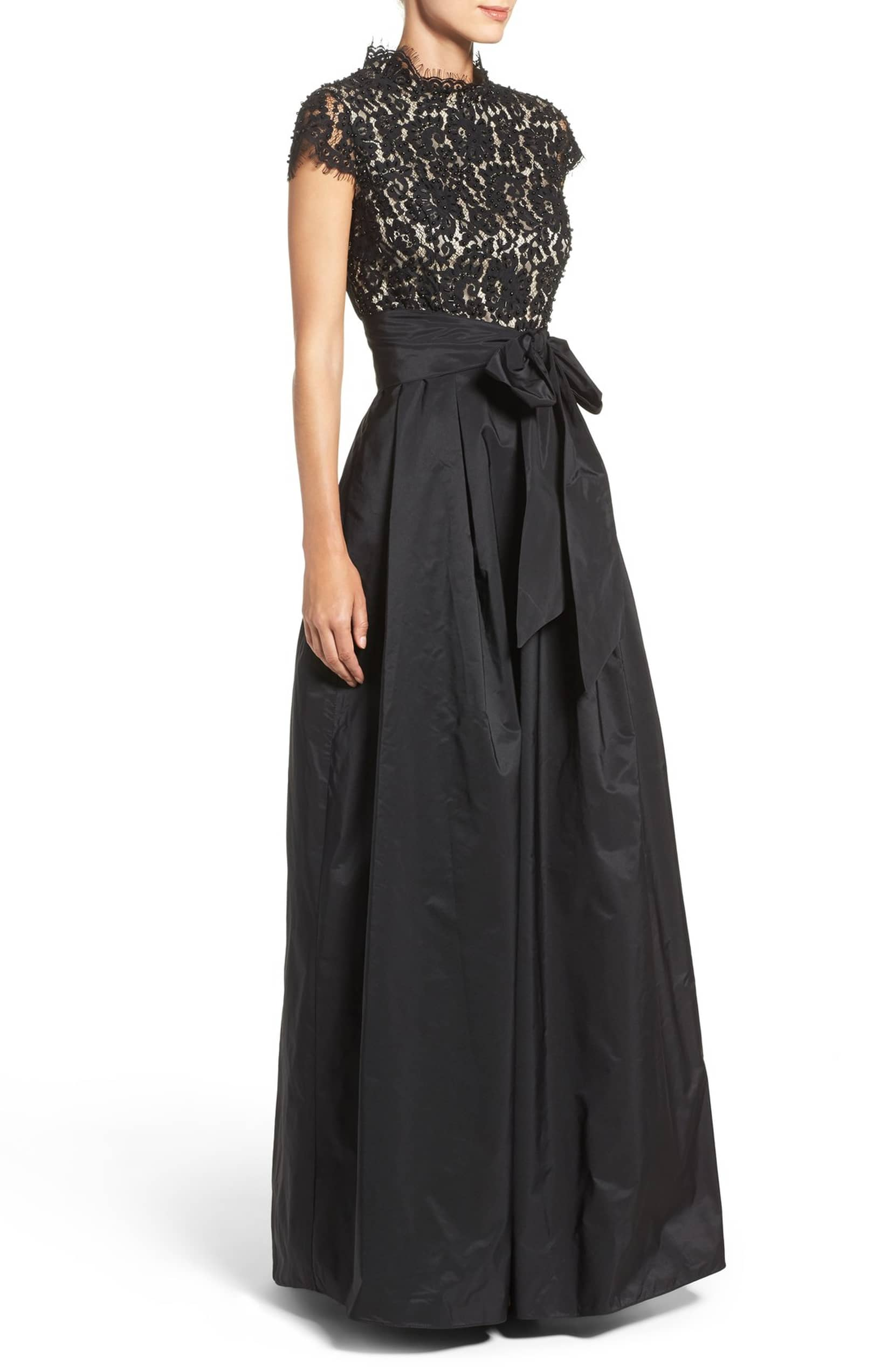 22903588fd5 ELIZA J Beaded Bodice Black Ballgown - We Select Dresses