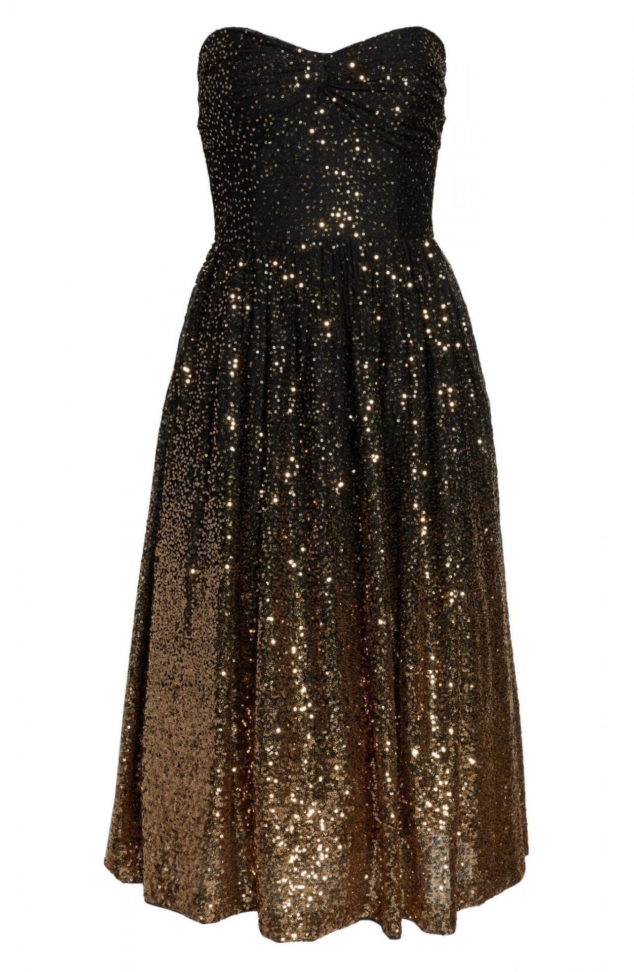 Black and Gold Dress