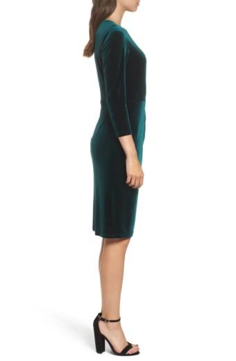 ELIZA J Velvet Sheath Multi Dress 2
