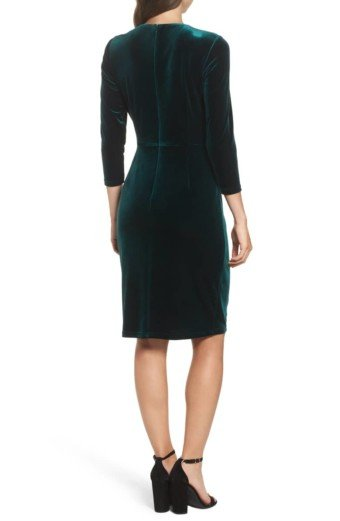 ELIZA J Velvet Sheath Multi Dress 3
