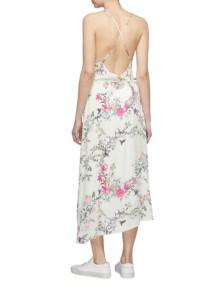 EQUIPMENT X Tabitha Simmons 'estille' Floral Print High-low Slip White Dress 3