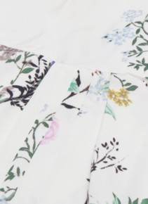EQUIPMENT X Tabitha Simmons 'estille' Floral Print High-low Slip White Dress 4