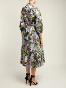 ERDEM Adrienne Dream Bird-print Blue Dress 3