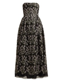 ERDEM Karenna Deep Sea-embroidered Organza Black Gown 3