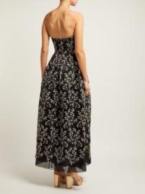 ERDEM Karenna Deep Sea-embroidered Organza Black Gown 4