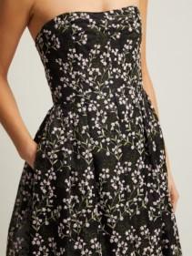 ERDEM Karenna Deep Sea-embroidered Organza Black Gown 5