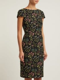 ERDEM Marion Floral-jacquard Cotton-blend Black Dress 2