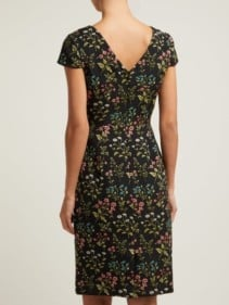 ERDEM Marion Floral-jacquard Cotton-blend Black Dress 3