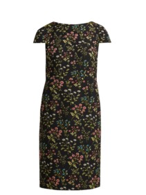 ERDEM Marion Floral-jacquard Cotton-blend Black Dress 4