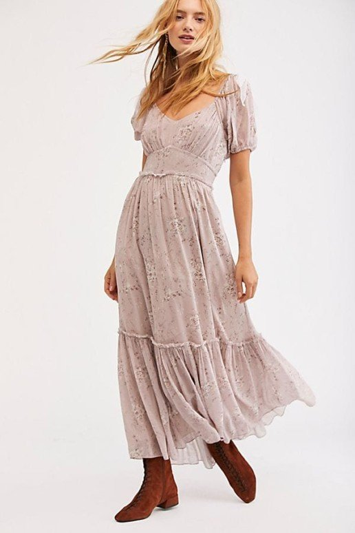 FREEPEOPLE Angie Maxi White Dress