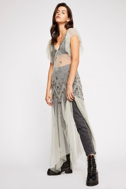 FREEPEOPLE Annabelle Embroidered Maxi Willow Slip 2