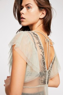 FREEPEOPLE Annabelle Embroidered Maxi Willow Slip 5