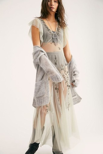 FREEPEOPLE Annabelle Embroidered Maxi Willow Slip