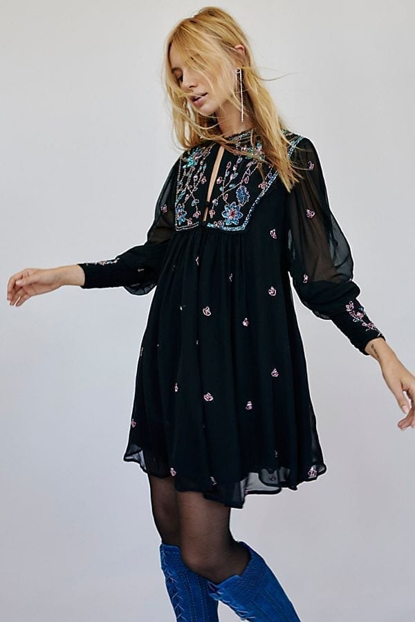 Freepeople Bali Golden Sun Black Dress We Select Dresses