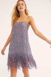 FREEPEOPLE Crystal Clear Mini Dusty Periwinkle Dress 3