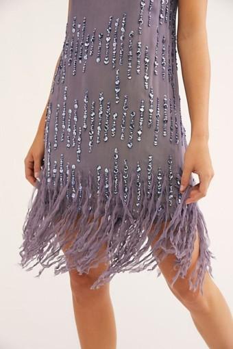 FREEPEOPLE Crystal Clear Mini Dusty Periwinkle Dress 5