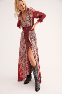 FREEPEOPLE Mexicali Rose Maxi Strawberry Combo Dress