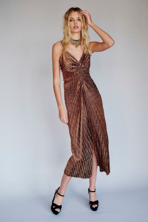 FREEPEOPLE Nikki's Limited Edition Gold Dress
