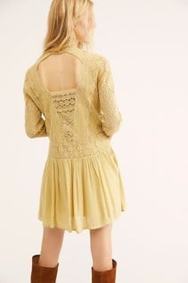 FREEPEOPLE Pirouette Lace Citrus Dress 2