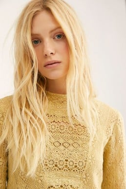 FREEPEOPLE Pirouette Lace Citrus Dress 3