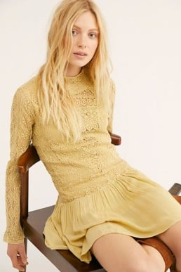 FREEPEOPLE Pirouette Lace Citrus Dress 5