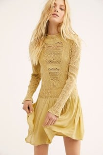 FREEPEOPLE Pirouette Lace Citrus Dress