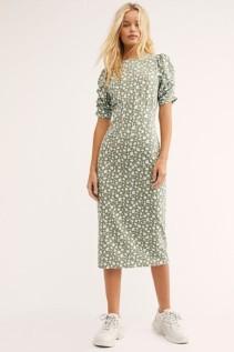 FREEPEOPLE Rosie Knit Midi Multi Dress