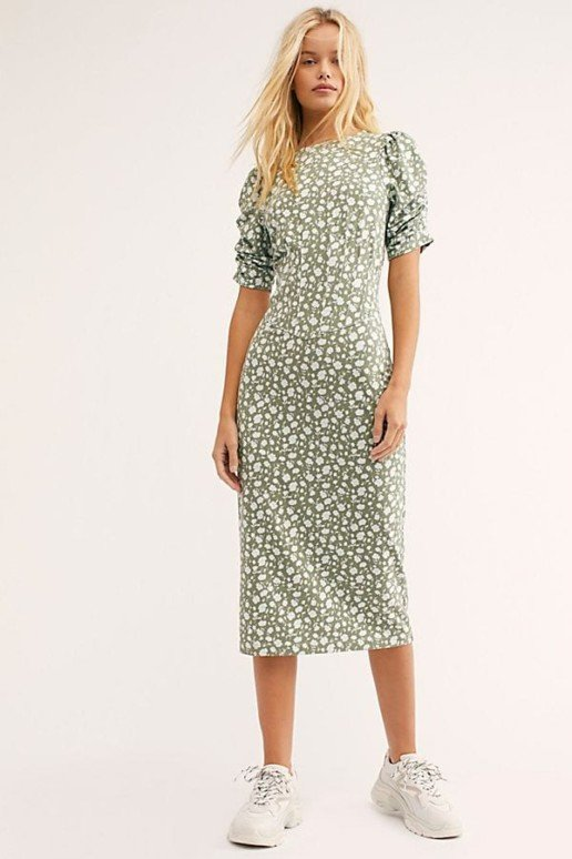 FREEPEOPLE Rosie Knit Midi Multi Dress