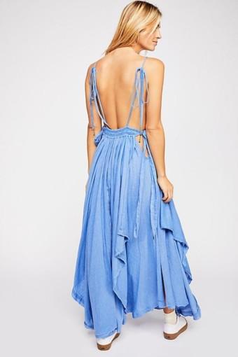 FREEPEOPLE Tropical Heat Maxi Blue Dress 2