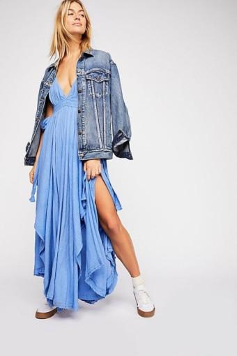 FREEPEOPLE Tropical Heat Maxi Blue Dress 4