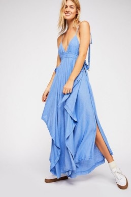 FREEPEOPLE Tropical Heat Maxi Blue Dress