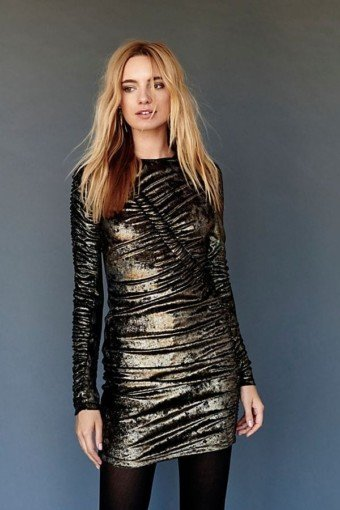 FREEPEOPLE Yarden Mini Gold Dress