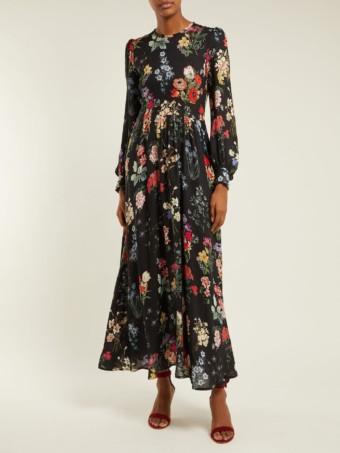 GOAT Garden Black / Floral Printed Dress