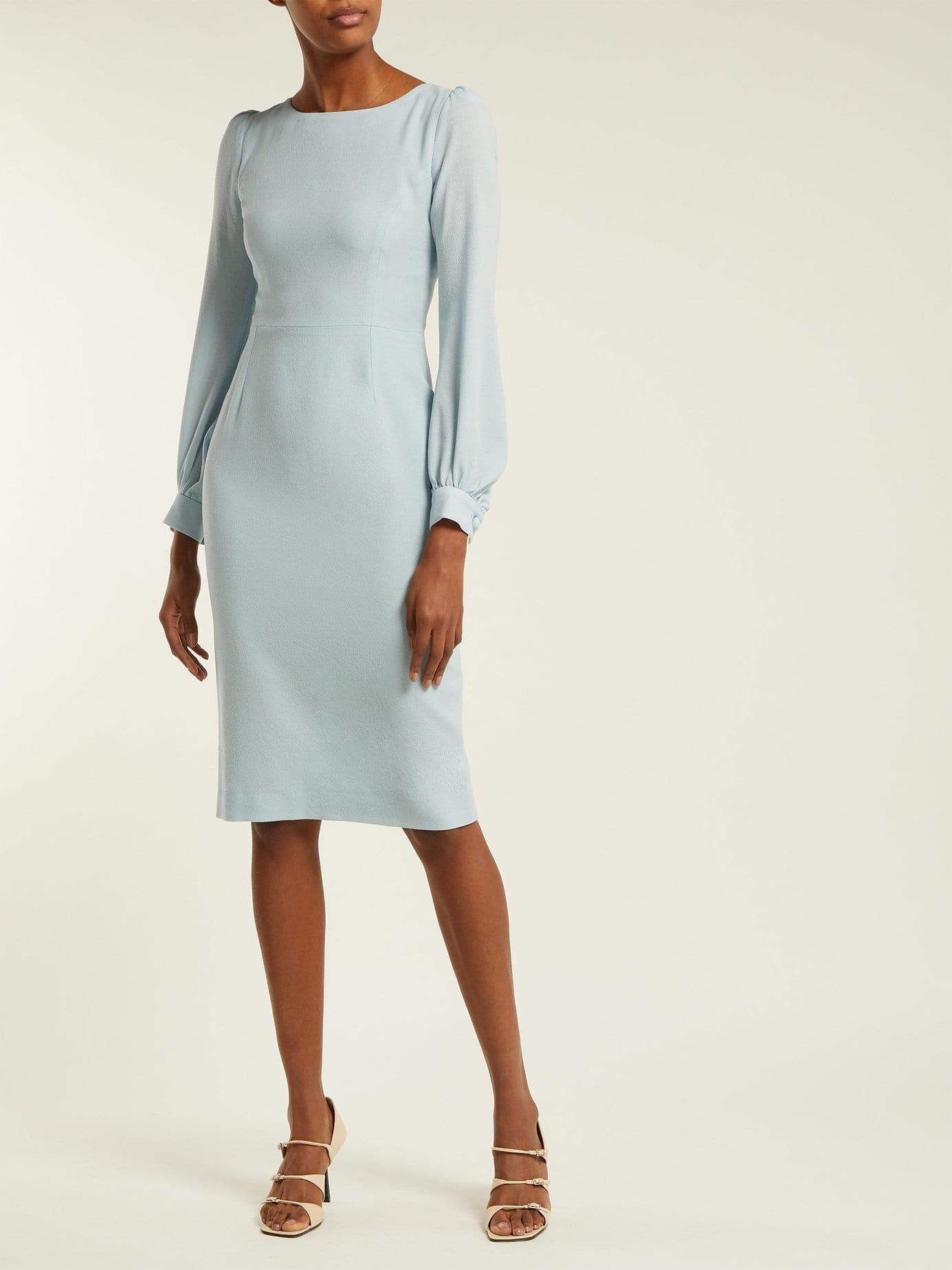 GOAT Harper Crepe Light Blue Dress