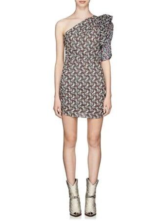 ISABEL-MARANT-ÉTOILE-Lilia-Cotton-Voile-Fitted-Multi-Dress