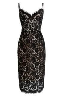 J.CREW Guipure Lace Spaghetti Strap Black Dress