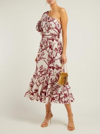JOHANNA ORTIZ Perfume De Gardenias Embroidered Cotton Midi White Dress